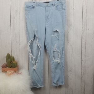 Express distressed Jeans Girlfriend High Rise 12